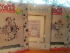Counted Cross Stich Disney's 101 Dalmations Weekenders Cat Kits lot of 3 UNOPEN