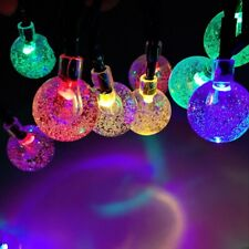30x Multi Coloured Solar Power Ball String Lights Small Globe Lamps Outdoor