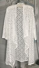 NEW ~ Plus Size 2X Ivory Off White Lace Duster Jacket Topper