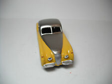 DINKY TOYS #157 JAGUAR XK120. TONE PEWTER METALLIC/ YELLOW, RESTORED TO N.MINT B
