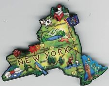 NEW  YORK NY  ARTWOOD STATE MAP MAGNET  ALBANY BUFFALO  NIAGARA FALLS  SYRACUSE
