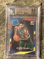 JAYSON TATUM 2017-18 DONRUSS OPTIC RED YELLOW PRIZM RC BGS 9.5 TRUE GEM MINT!