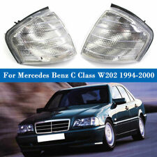 Clear Corner Turn Signal Lights Lamp Pair For 1994-00 Mercedes Benz C Class W202