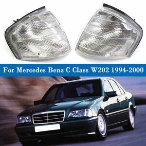 Pair Corner Lights Turn Signal Lamp For Mercedes Benz C Class W202 1994-2000