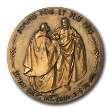 Vatican Pope Paul VI Bombay Ecumenical Conference High Relief Bronze Medal 1964