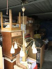 Lampe Luster Deckenlampe 50´er Jahre Kult Deko 6 Flammig Messing Glas