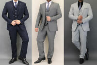 Mens Waffle Blazers Waistcoats Trouser 3 Piece Wedding Suits By Cavani