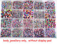 Wholesale 110pcs Bulk Lots Body Piercing Eyebrow Jewellery Belly Tongue Bar Ring