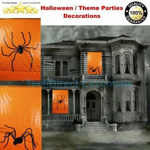 Halloween Party Spider Creepy Crawly Silhouette Window Sticker Decoration