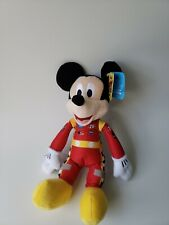 """Disney Store Mickey Mouse Plush Mickey and the Roadster Racers Small 9-1/2"""" Red"""