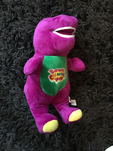 Barney Dinosaur Can Sing I love You Song Purple Soft Plush Toy 12''