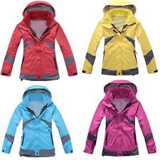 Women Waterproof anti-UV Fleece Inner Jacket Camping Ski Snowboard Outdoor S-3XL