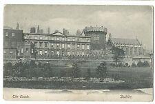 The Castle, Dublin PPC, Bodmin 1904 PMK to Miss Hawke, Brick House, Port Isaac