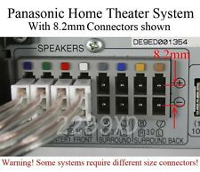 6 speaker cable/wire connectors made for 8.2mm-pitch Panasonic DVD home theater