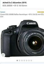 Canon EOS 2000D 24,1 Mpix Appareil Photo Reflex Numérique Kit avec EF-S 18-55mm…