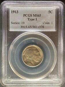 1913 Buffalo Nickel - PCGS MS65 Type 1