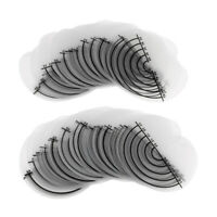 50Pcs Fusion Hair Extensions Heat Glue Shield Protector Template With Scale