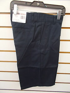 Boys IZOD $28 Navy or Khaki Uniform/Casual Flat Ft Adj. Waist Shorts Size 8-18