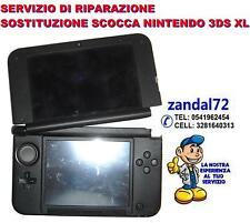 SERVIZIO DI SOSTITUZIONE COVER CASE SCOCCA NINTENDO 3DS XL VARI COLORI BROKEN