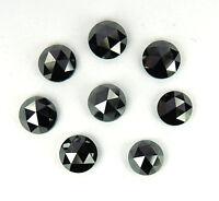 Natural Loose Diamond Black Color Round Rose Cut I3 Clarity 4.00 MM 1 Pcs Lot Q6