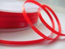"Double Satin Ribbon - 3mm (1/8"") - 5 Metres - Tying Ribbon"