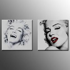 Canvas Art Painting Print Marilyn Monroe Poster For Home Wall Decor 2pc No Frame