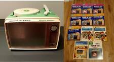 Vintage 1980s Show n Tell Phono Viewer Record Player + 11 Records Disney Sanrio