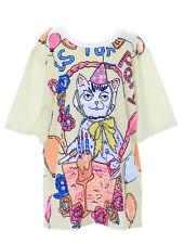 T-48 chat fête Jaune Multicolore T-shirt pastel gothique lolita Japon harajuku