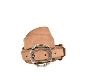 Emporio Armani Mens BTEAU20 Belt Genuine Leather EAU Beige Size 50