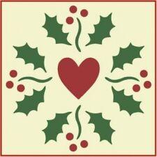 HOLLY HEART STENCIL  - CHRISTMAS - The Artful Stencil