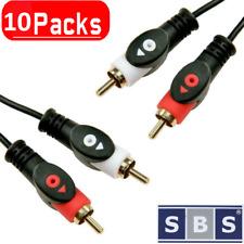 10x Cinch Chinch Kabel Anschlusskabel mit 2 Stecker Audio RCA HiFi AUX Auto 3m