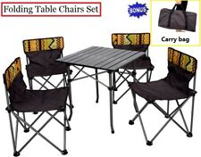 Portable Picnic Camping Folding Table Chairs Set Outdoor Garden Beach Fishing