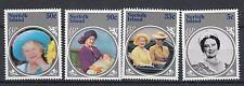 Norfolk Island 1985 85° anniversario della Regina madre 360-63  MNH