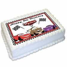 Cars Lightning McQueen Mater Personalised A4 Edible Icing Cake Topper