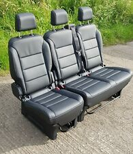 Peugeot Traveller Proace Citroen Spacetourer Rear Bench Row of Leather Seats
