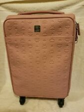 MCM Carry-On Luggage Traveler Cabin Trolley in Visetos Pink