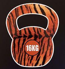 Crossfit kettlebell 16kg tigre fourrure image autocollant voiture ipad crossfit wod amrap