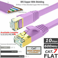 CAT7 RJ45 Network LAN Ethernet SSTP High Speed Shielded Cable Size 1m To 20m LOT