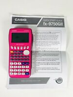 Preowned Casio FX-9750GII-PK Graphing Calculator Pink with manual