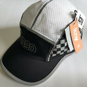 """Reflective Running or Cycling hat """"1990"""" icny NWT black one size fits all"""