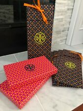 Lot of 2 Tory Burch Accessories Gift Boxes and 5 Gift Bags