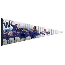 "CHICAGO CUBS 2016 WORLD SERIES CHAMPIONS PLAYER PREMIUM PENNANT 17""x40"" WINCRAFT"
