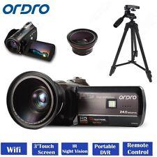 ORDRO D395 1080P 18X Zoom Digital Video Camera Night Vision HDMI+Wide Len+Tripod