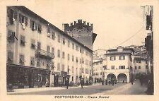 5696) PORTOFERRAIO (LIVORNO) PIAZZA CAVOUR, CAFFE' ROMA, NEGOZIO BERTES PASSANTI