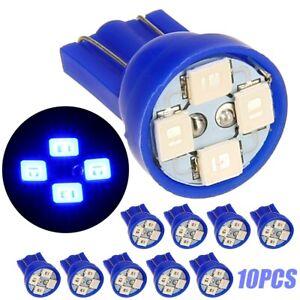 10x Blue 12V LED 168 194 T10 Wedge Dashboard 4 SMD Instrument Panel T10 Bulb