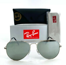 Ray-Ban Aviator Classic RB3025 W3277 Sunglasses 58mm Silver Frame Silver Mirror