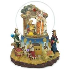 Kings Holding Gifts Nativity Scene Musical Snow Globe