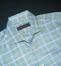 ETRO Milano Men's Button Front Shirt ~ Small ~ EU 38 ~ Plaid ~ Long Sleeves