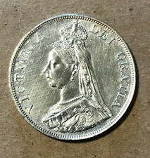 Great Britain - 1887 Large Silver Double Florin - Victoria