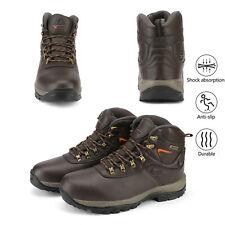 Men's Mid Anti-Slip Hiking Boots Outdoor Waterproof Lace-up Trekking Work Boot